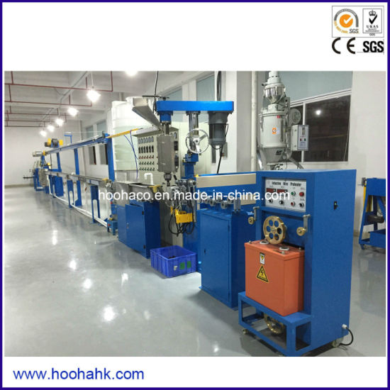 Professional Plastic Cable Wire Extrusion Machine Production Line pictures & photos