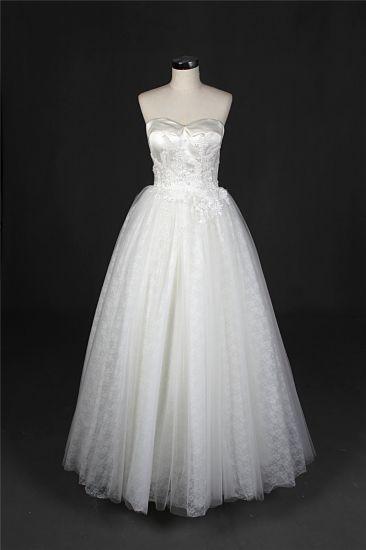 Strapless Satin Ball Bridal Wedding Gown Bridal Dress (Q90394)
