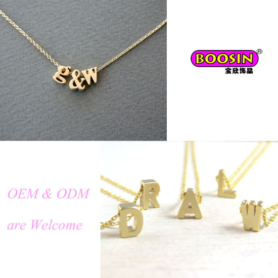 Wholesale Cheap Gold Pendant Jewellery Personal Letter Necklace pictures & photos