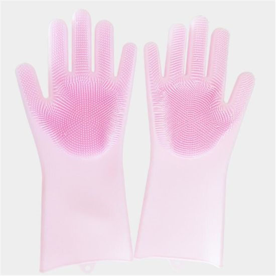 Heat Resistant Silicone Cleaning Scrubber Gloves for Kitchenware