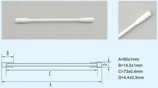Eco-Friendly Cleanroom Cotton Swab for Cleaning Optical Connector