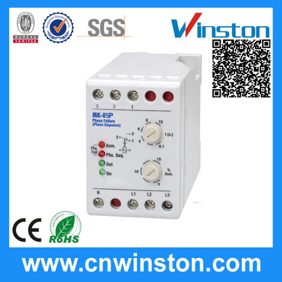 China DIN Rail Mounting Phase Faliure and Sequence Relay with CE