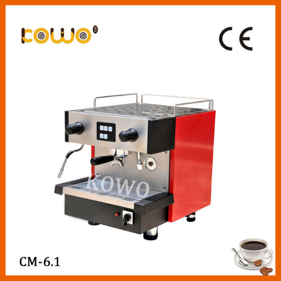 Stainless Steel Single Group Espresso Electric Coffee Maker for Commercial