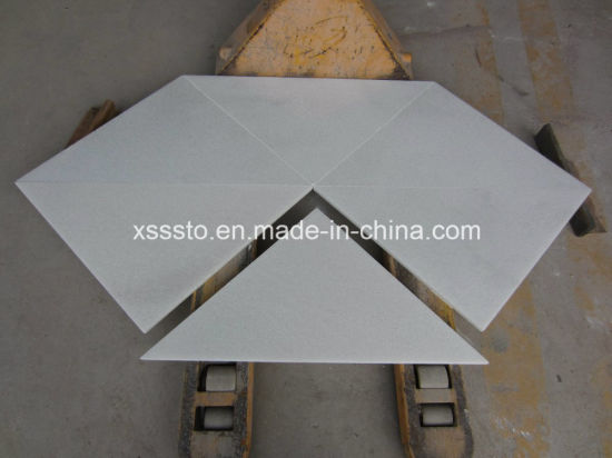 China Crystal Pure White Marble Tiles For Flooring Wall Cladding