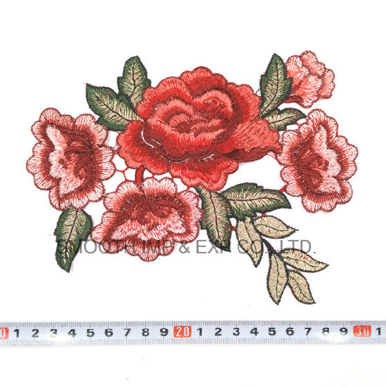 Fashion Flower Rose Applique Embroidery Patches Clothes Decorated Sewing Badge pictures & photos