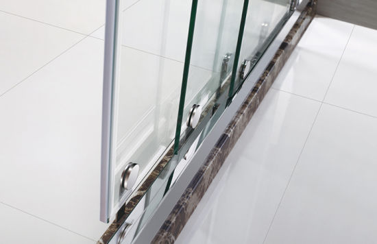 China 9001200 Acrylic Shower Base Stainless Steel 8 Mm Glass Door