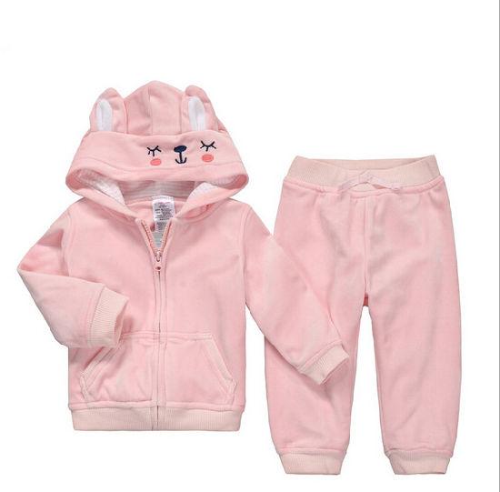 Hot Sale Lovely Cartoon Soft Cotton Warm Baby Garment