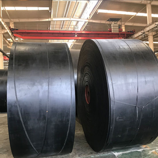 High Temperature Polyester Rubber Heat Resistant Conveyor Belt for Steel Mining pictures & photos