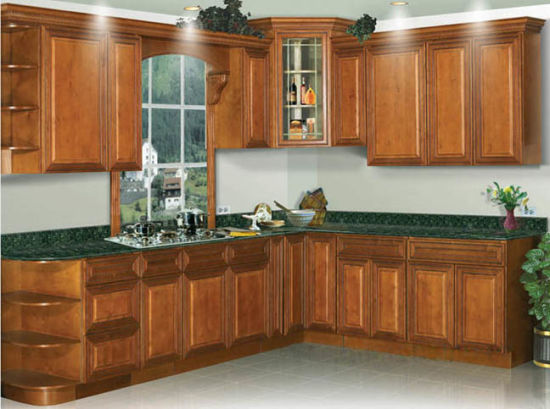 Mini Simple Design Solid Wooden Kitchen Cabinet