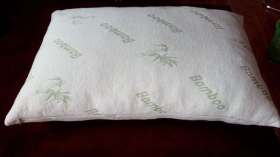 High Quality 2 PCS Shredded Memory Foam Pillow with Bamboo Fiber Cover King Size