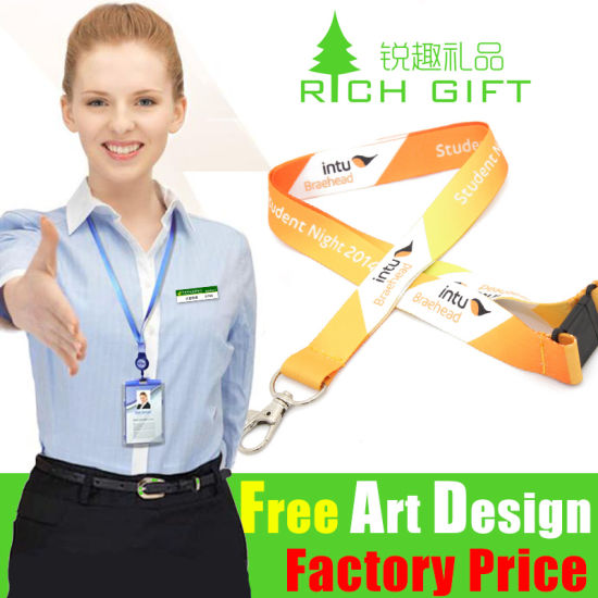 Drive Free Sample Fashion Design Polyester/Sublimation Lanyard for Student