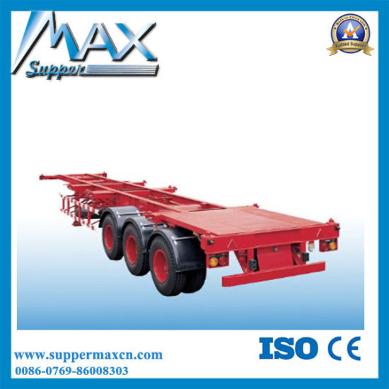 3 Axle 20′′ Gooseneck Skeleton Semi Trailer pictures & photos
