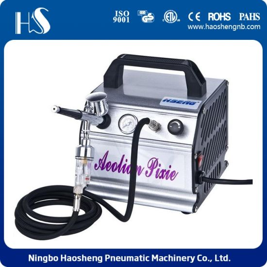 China Airbrush Air Compressor As176K for Body Painting and