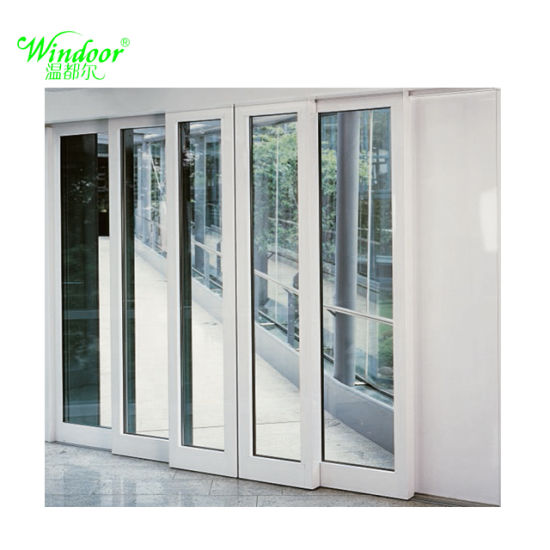 China Experienced Factory Plastic Pvc Interior Door Double Glazed