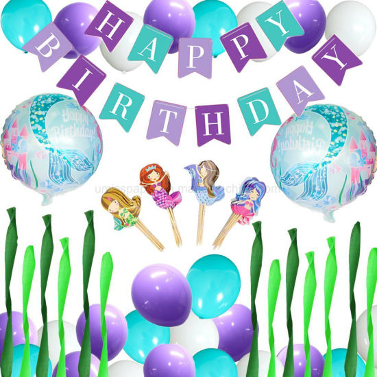 Umiss Paper Mermaid Birthday Party Decoration For Factory OEM
