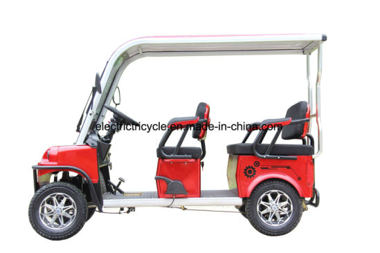 China Smart Design Cheap 4 Seats Electric Golf Car Cart with Alloy Roof/Wiper pictures & photos