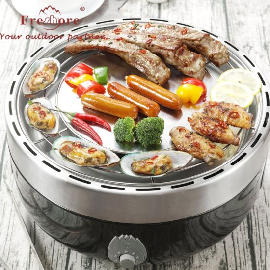 Hot Sale Wholesale Round Carry BBQ Charcoal Grill for Family and Outdoor Camping
