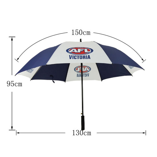 Windproof Fiberglass Golf Umbrella Two Tone Umbrella with Printing Logo