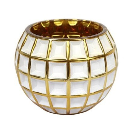 Wholesale Luxury Glass Ball Candle Holder for Decoration
