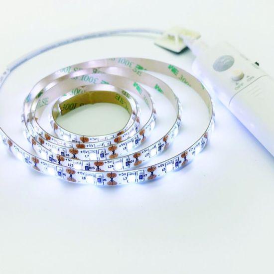 Wireless Motion Sensor LED Night Light Cabinet Stairs Light USB LED Strip  Lamp