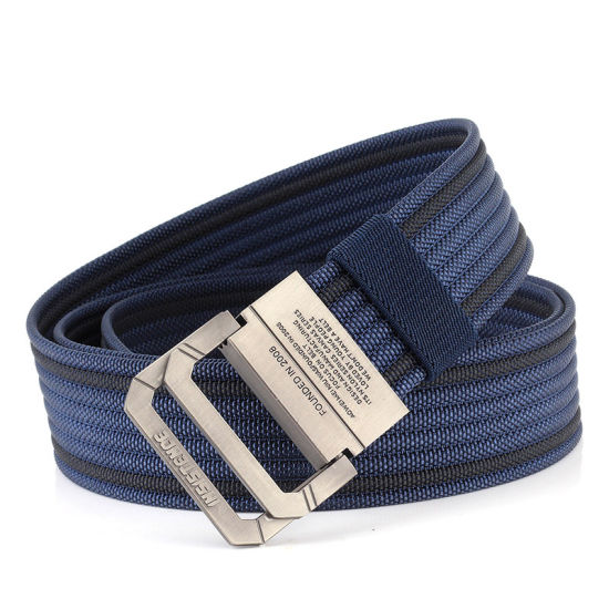 Double Ring Buckle Nylon Belt Jeans Polychromatic Nylon Belt Classic Fashion pictures & photos