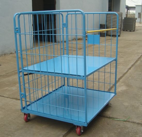 Steel Warehouse Storage Folding Galvanized Heavy Duty Roll Cage pictures & photos