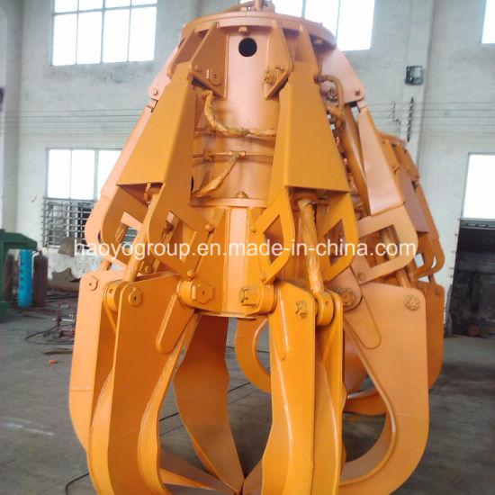 China 0 8m3 Excavator Hydraulic Orange Peel Grab Bucket