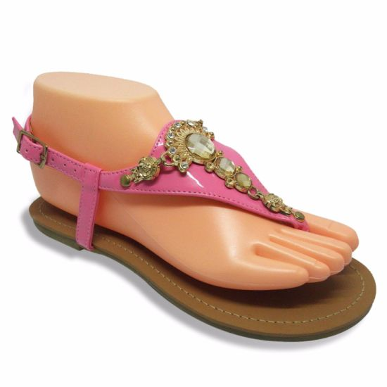 e2cd935682943 China Fashion Women Flat Sandals with Nice Buckle - China Flat ...