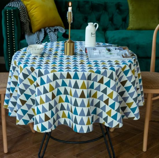 Nordic Ins Style Restaurant Round Cotton Linen Tablecloth