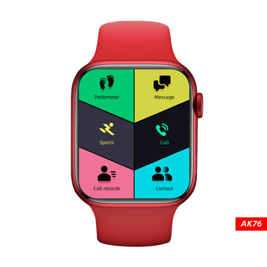New Arrival Bluetooth Call Body Temperature 1.75 Inch Large Screen Support Dynamic 3D Face Smart Watch Series 6 for iPhone