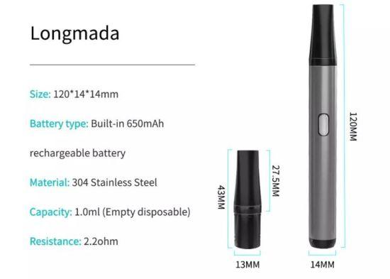 Adjustable Voltage Pod Mod Vape Pen E Cigarette Booster 650mAh Variable Voltage Preheat Battery with Vape Pod Cartridge Starter Kit