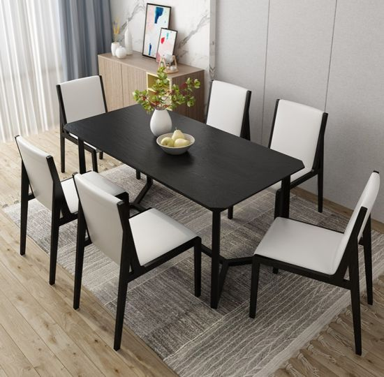 China Modern Dining Room Furniture Solid Wood Dining Table Set