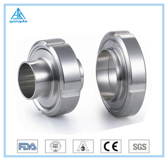 304/316L Hygienic Food Grade Stainless Steel Sanitary Male/Clamp/Welding Union with Glass Pipe Fittings DIN/SMS/Rjt