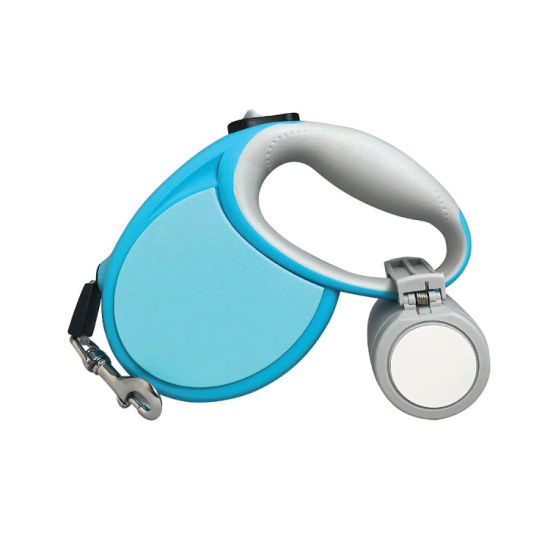 Retractable Dog Leash with Smooth Retraction - 13 Feet, Light Blue