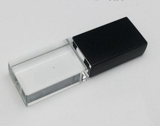 Black Metal Cap Glass/Crystal USB Flash Drive 2GB 4GB 8GB 16GB 32GB USB Stick