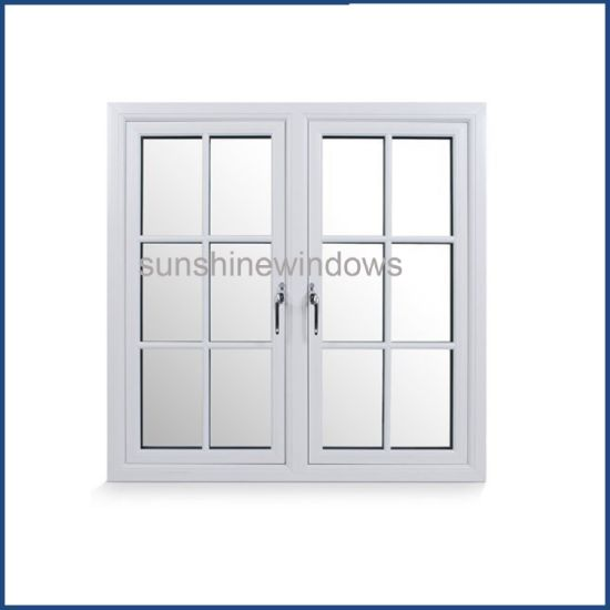 China European Style 37x37 Standard Size Pvc Windows With Grilles