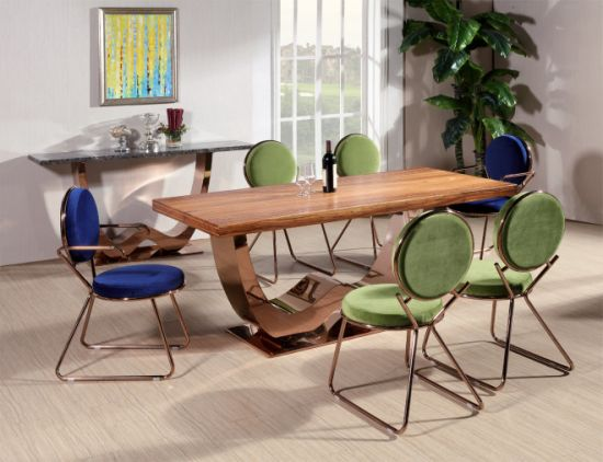 China 1.8m Size Veneer Dining Table /Apartment Furniture ...