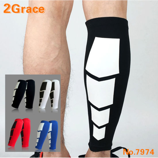 Outdoor Sports Leg Calf Brace Support Stretch Sleeve Compression Sock Running