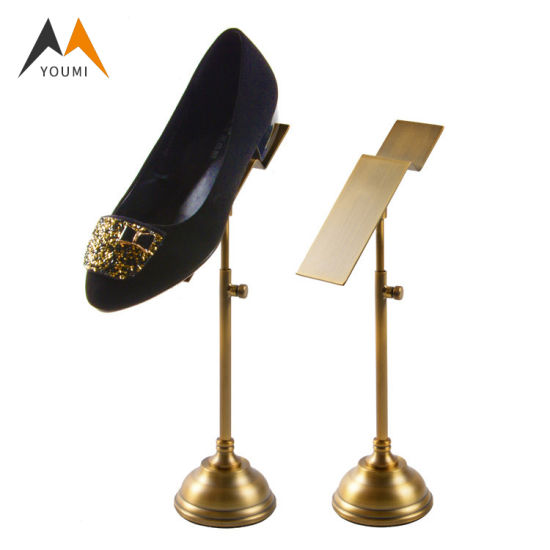 Wholesale Elegant Modern Stainless Steel Retail Rack Shoe Display