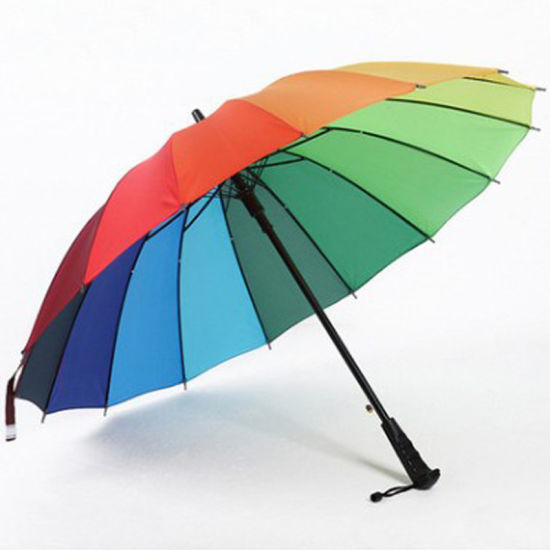 Promotional High Quality Custom Rainbow Umbrella pictures & photos