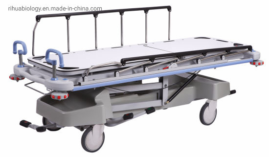 Rh-D203 Hospital Luxrious Hydraaaulic Rise and Fall Stretcher Cart
