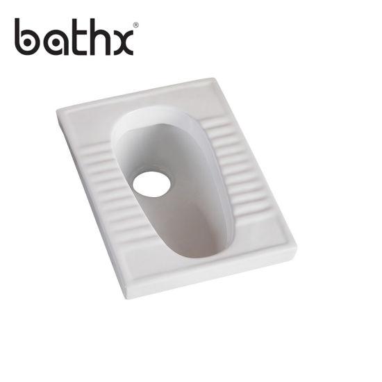Medium Deep White Cheap Ceramic Wc Pan Water Closet Porcelain Squatting Squat Toilet (PL-P101B)