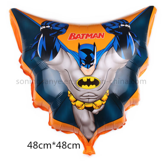 Dto0224 Triangle Superman Classic Helium Mylar Cartoon Balloonstriangle Batman Foil Balloons