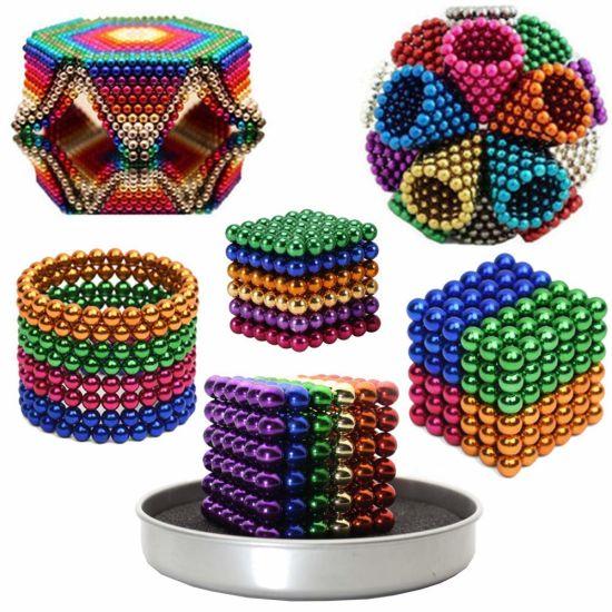 216PCS 5mm Colorful DIY Neo Magnet Cube Magic Beads Balls