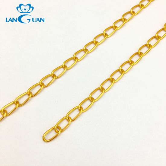 Decorative Fashionable Bag Parts Chain Gold Metal Chain for Bag Accessory