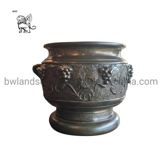 Garden Bronze Flowerpot Bfc 038