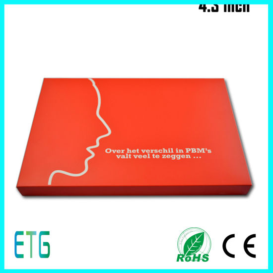 Top Quality 4.3 Inch LCD Video Booklet for Advertisement, Gift and Education pictures & photos