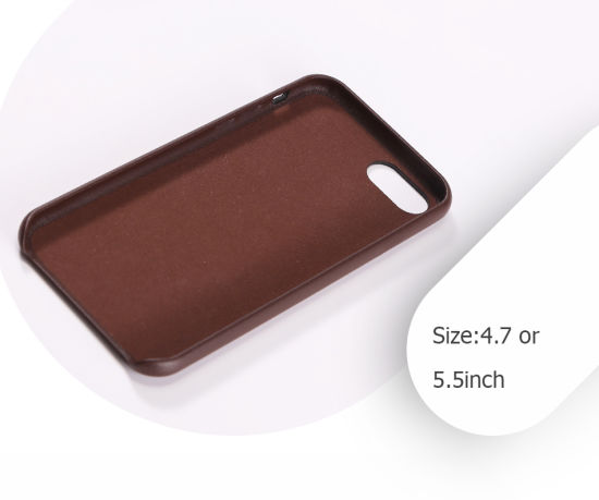Popular Good-Looking Brown PU Leather Full-Cover Mobile Case pictures & photos
