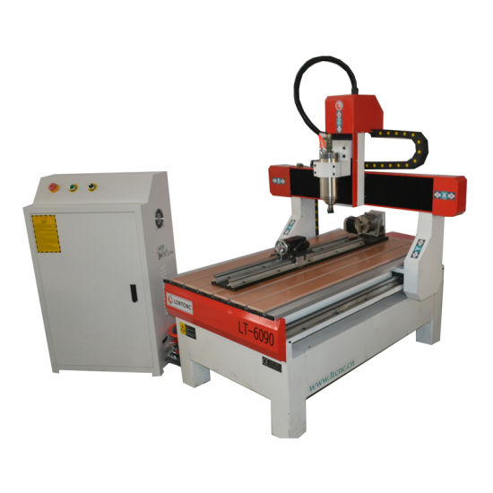 Mini Metal Engraving Machine CNC Router 6090 with Rotary Axis