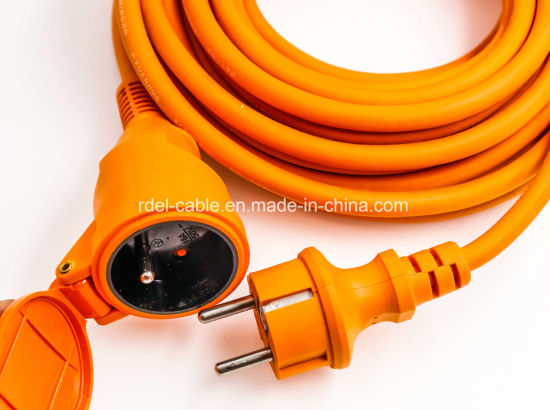 China Rubber Power Cord with Electric Water-Proof Plug with Shutter